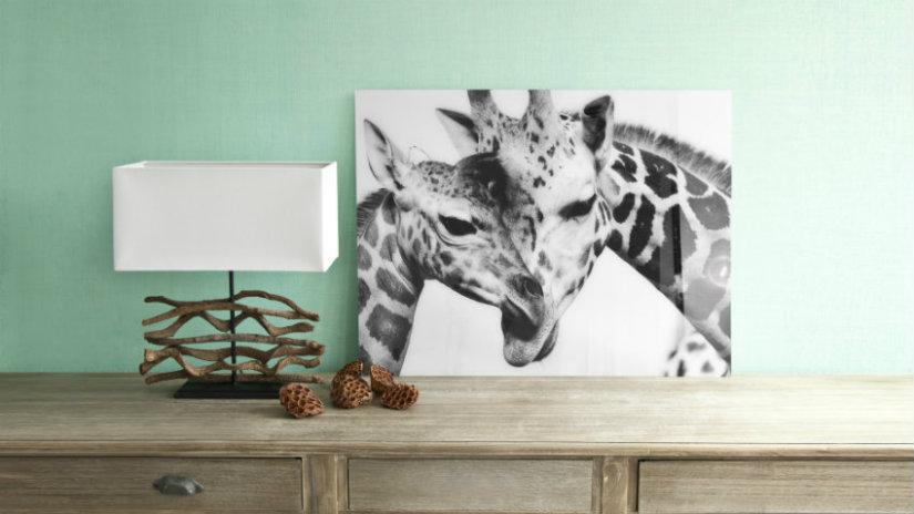 quadri in bianco e nero lampada