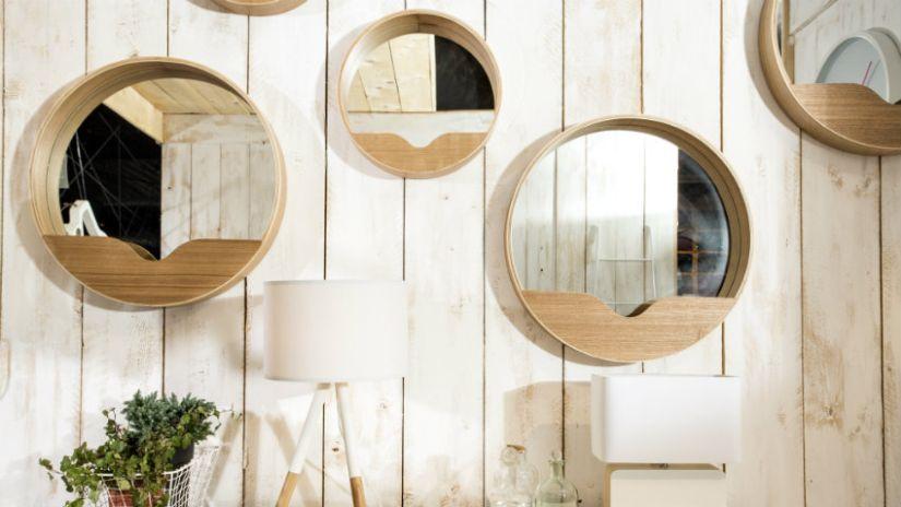Mensole rotonde in legno