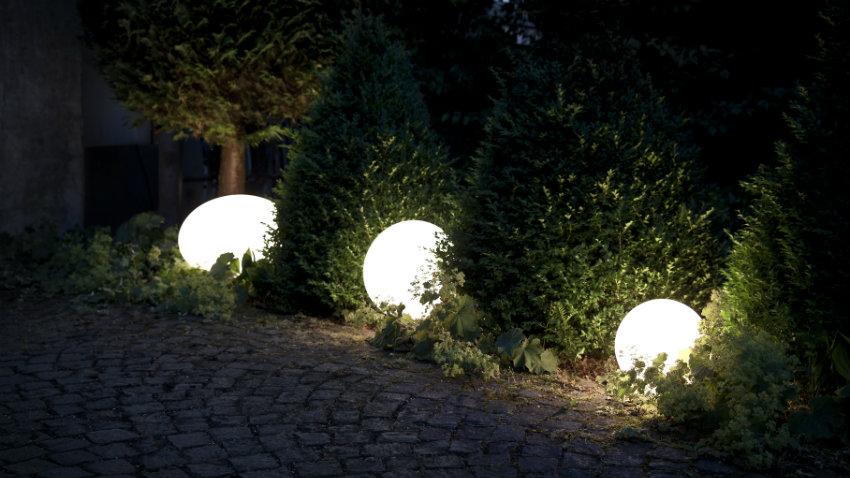 lampade da esterno a led luci nella notte dalani e ora