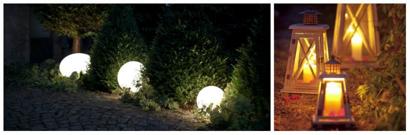 arredare il giardino luci lampade