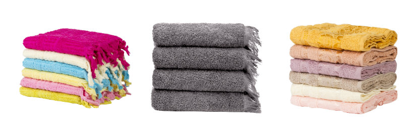 asciugamani in cotone set