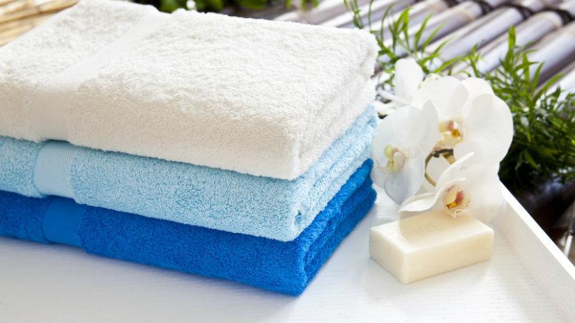 asciugamani in cotone fiori