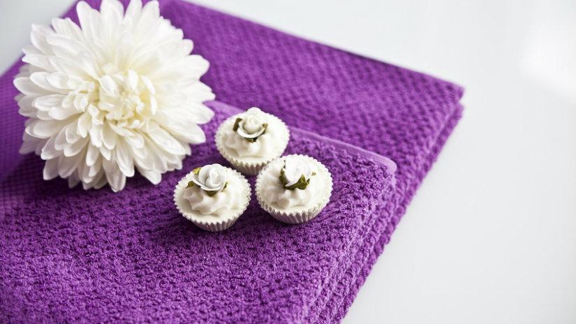 asciugamani in cotone fiore
