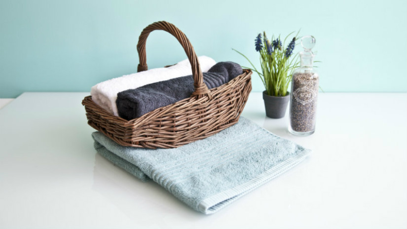 asciugamani neri in spugna cotone lino
