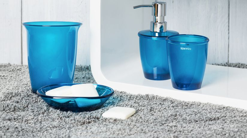 bagno blu set sapone