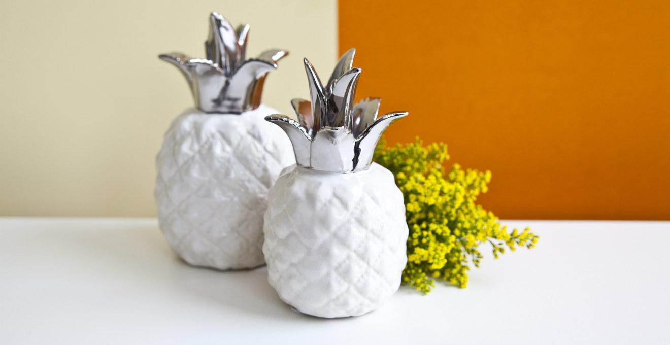 Centrotavola bianco dettaglio minimal in cucina dalani - Soprammobili design ...