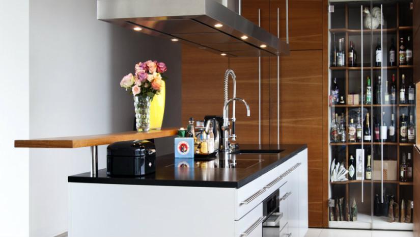 cucina open space in legno