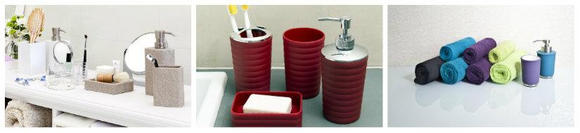 dispenser per sapone rosso blu viola