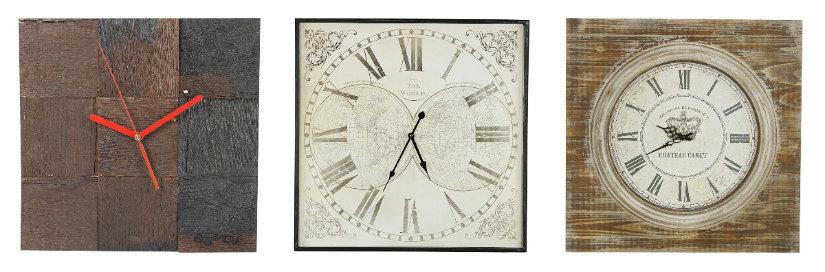 orologi da parete quadrati collage