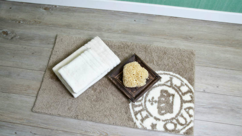 portasapone in legno lavette