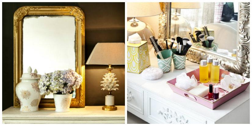 specchiere specchiera lampada fiori console