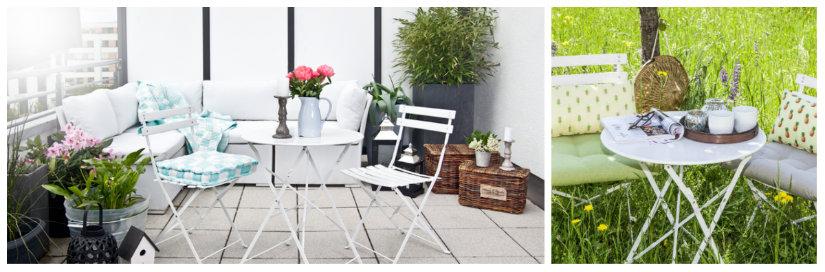tavolino pieghevole per la colazione in veranda