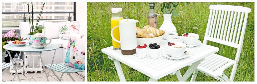 tavolino pieghevole per il giardino o veranda