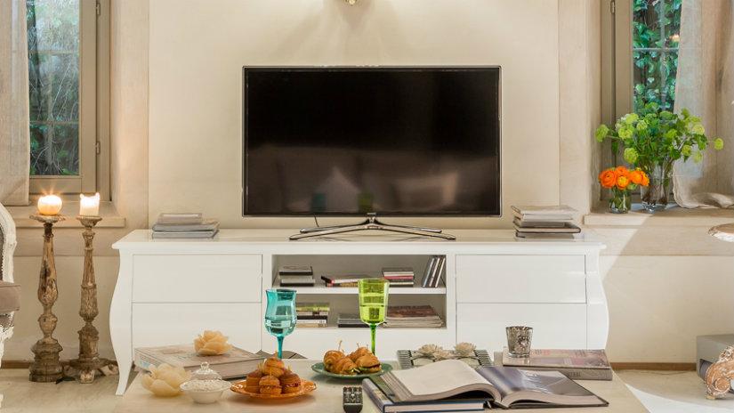 tavolino porta tv shabby chic