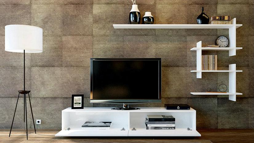 Tavolino porta tv accessori per un living d 39 effetto - Mobiletti porta tv meliconi ...
