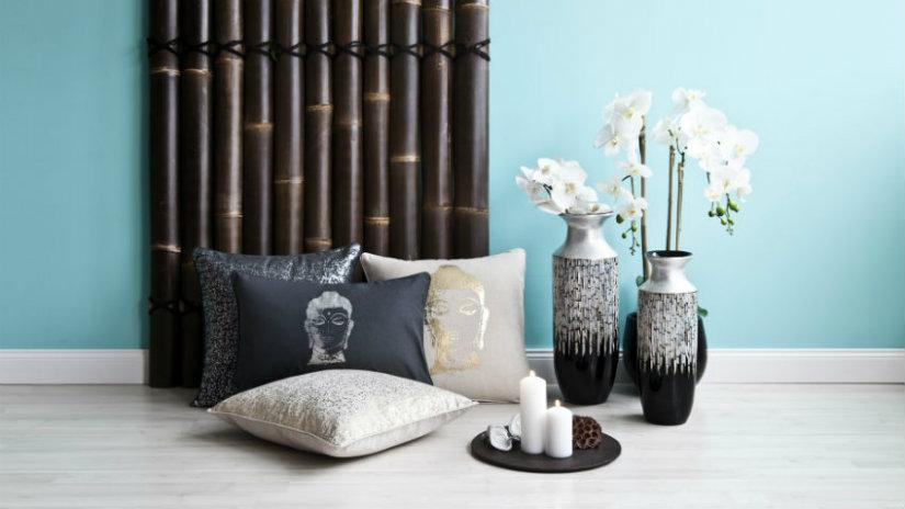 vasi giapponesi fiori cuscini vassoio