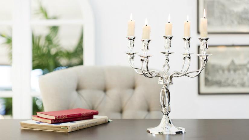 candelabri in vetro living elegante