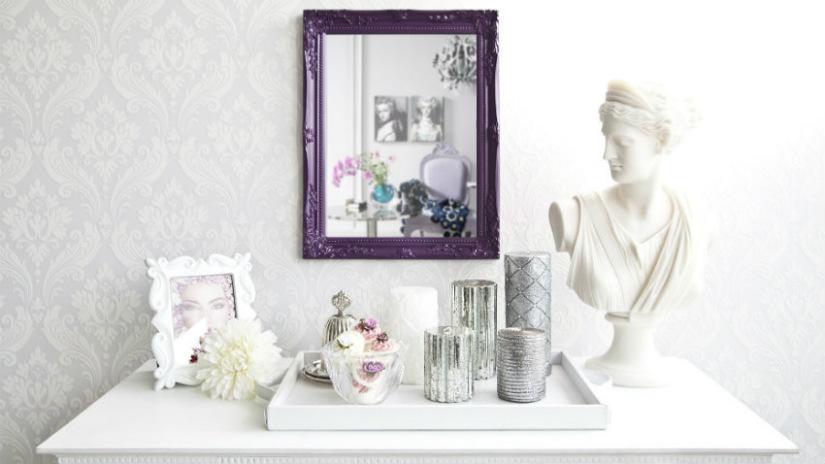 carta da parati classica statue in marmo specchio