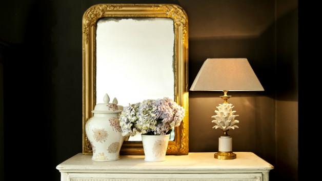Potiche in porcellana specchio vaso di fiori lampada