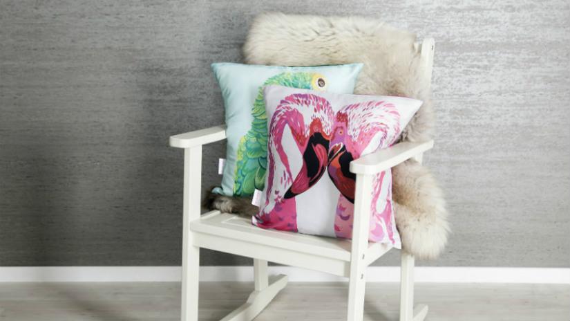 sedia da regista in legno bianca romantica