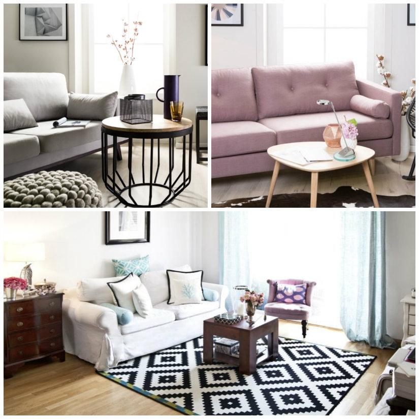 arredare casa sofa divano zona living salotto tavolino tappeto divano