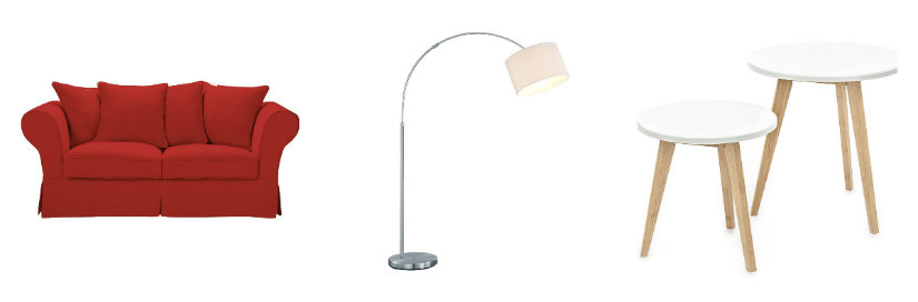 arredare il salotto divano lampada tavolini