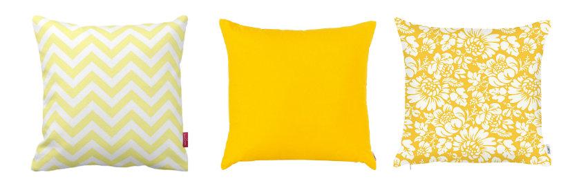 cuscini gialli trio