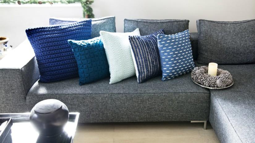 cuscini in lino per divano