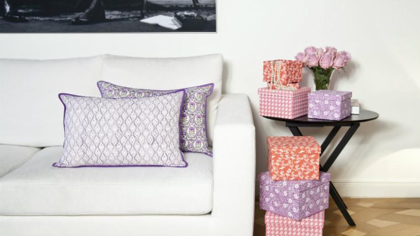 cuscini in lino per il salotto