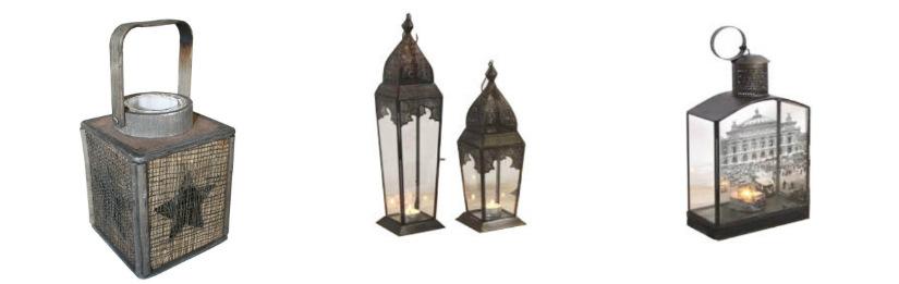 lanterne piccole in legno ferro battuto arabe