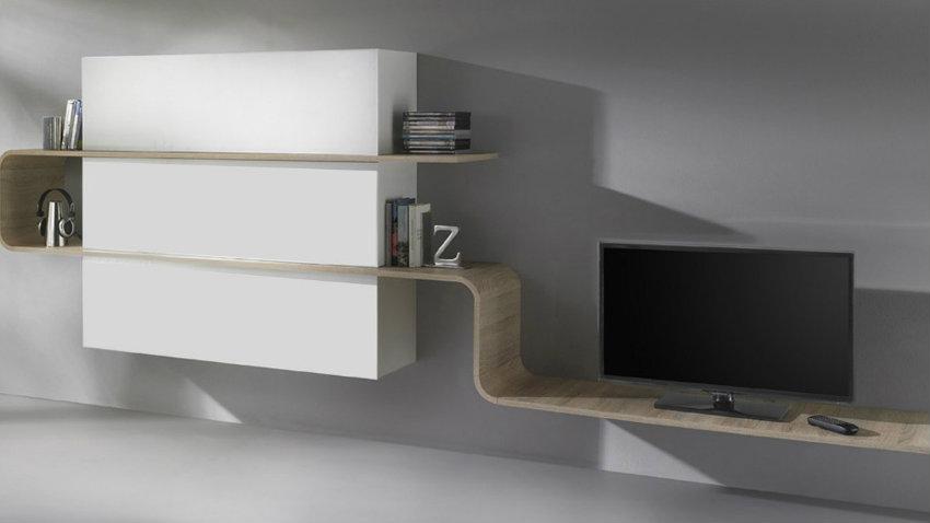 Parete attrezzata moderna mobili componibili dalani e for Pareti tv moderne