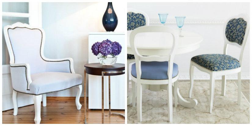 sedie antiche bianche in legno