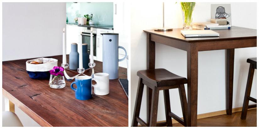 Tavoli Alti Legno : Tavoli in legno massello artigianali e di design dalani e ora