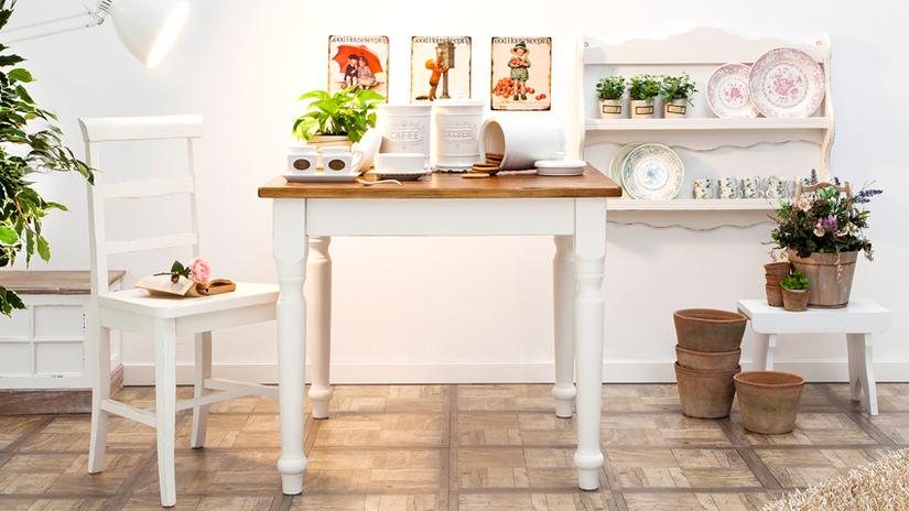 cucina in stile scandinavo nuance pastello piante geometrie
