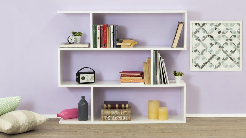 libreria componibile bianca da parete