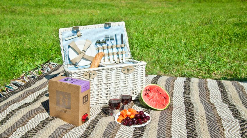 tovaglia da picnic a righe