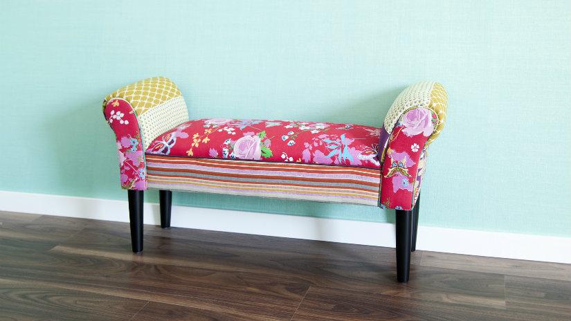 Panca Imbottita Colorata : Panchetta di legno: una comoda seduta rustica dalani e ora westwing
