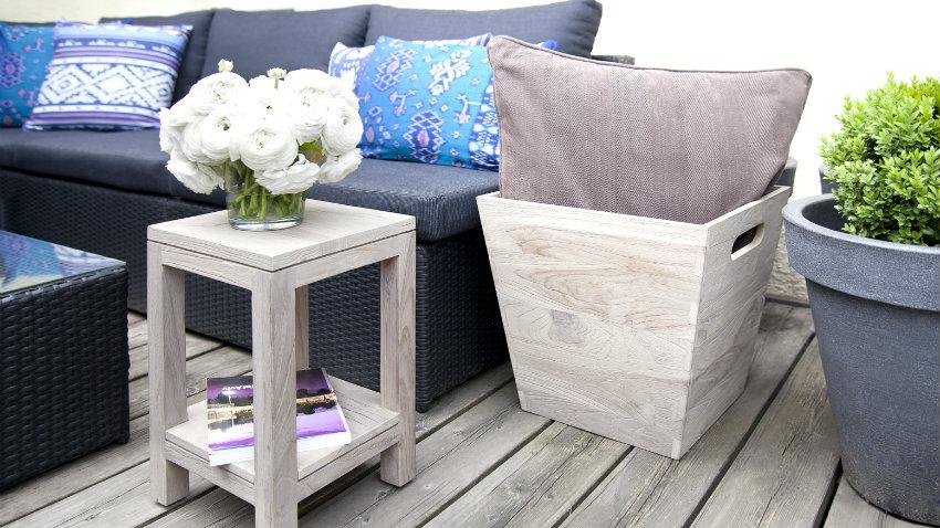 armadi da giardino in legno tavolino divano