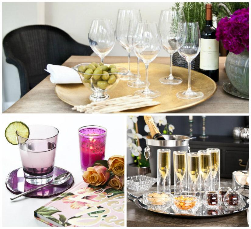 bicchieri di cristallo per champagne e per acqua