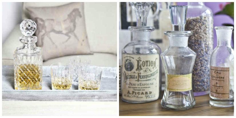 bottiglie per liquori vassoio in legno