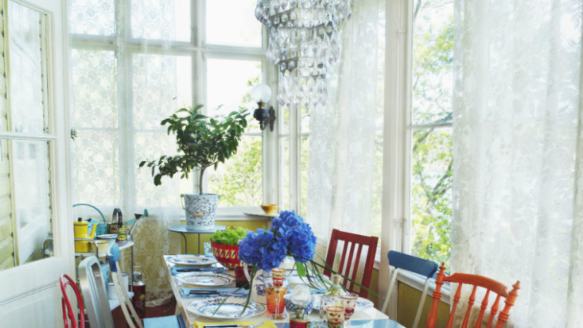 colori provenzali in soggiorno