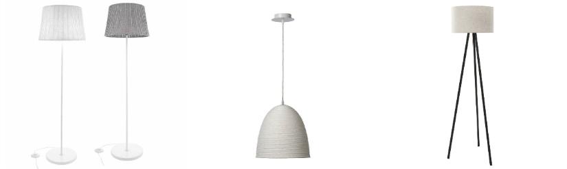 cucina in stile scandinavo lampade