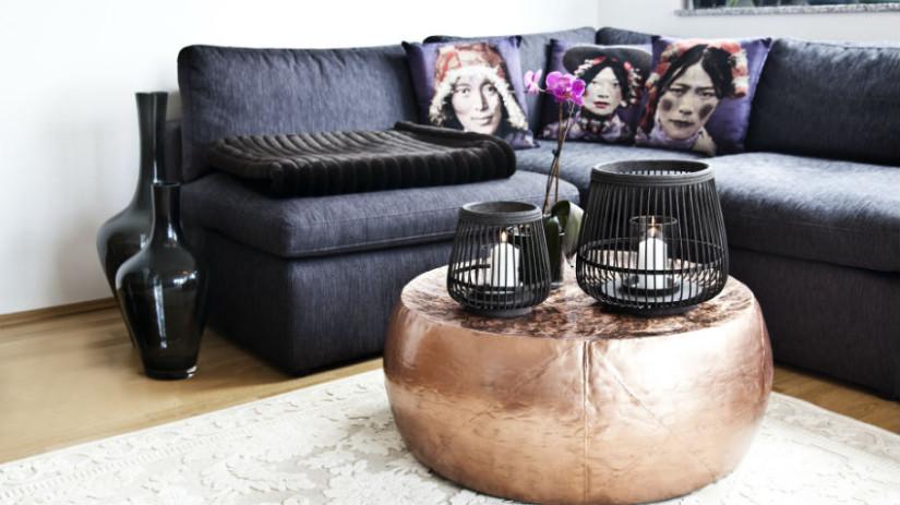 divano letto angolare con contenitore grigio scuro
