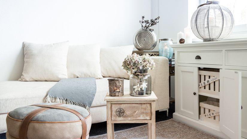 divani in stile scandinavo soggiorno tavolino cassettiera