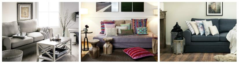 divano a 2 posti cuscini colorati