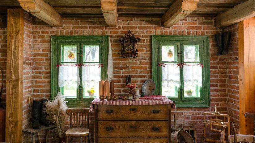 idee per la casa mattoni cassettiera