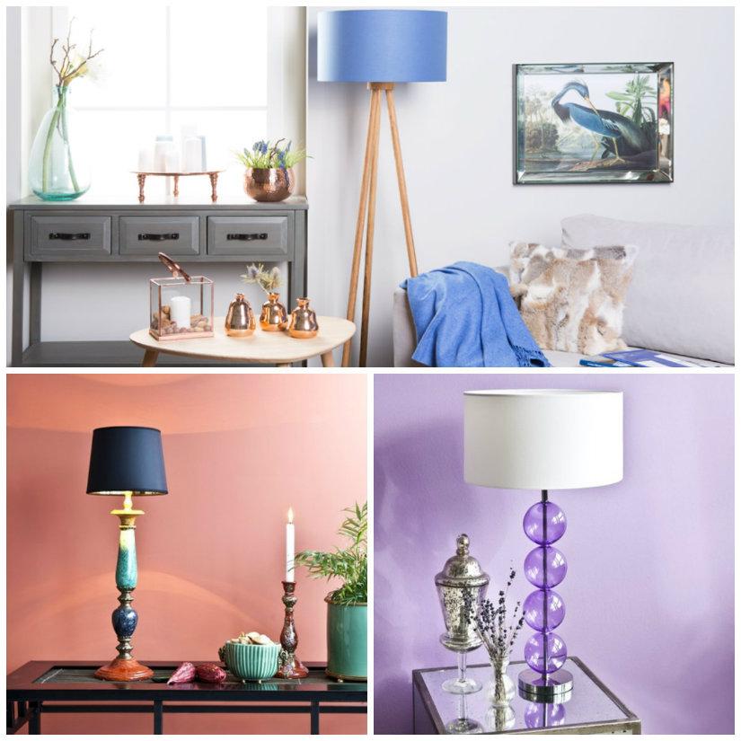 lampade colorate blu