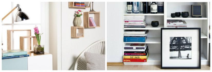 libreria componibile in legno grezzo
