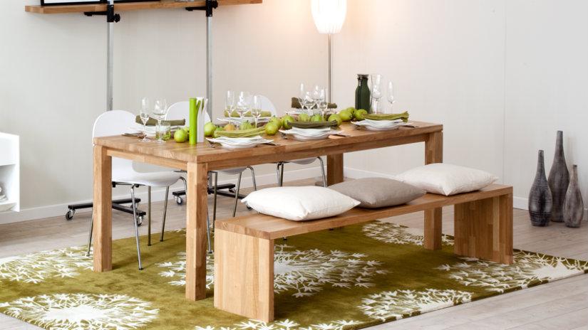 panche in legno chiaro per interni da cucina