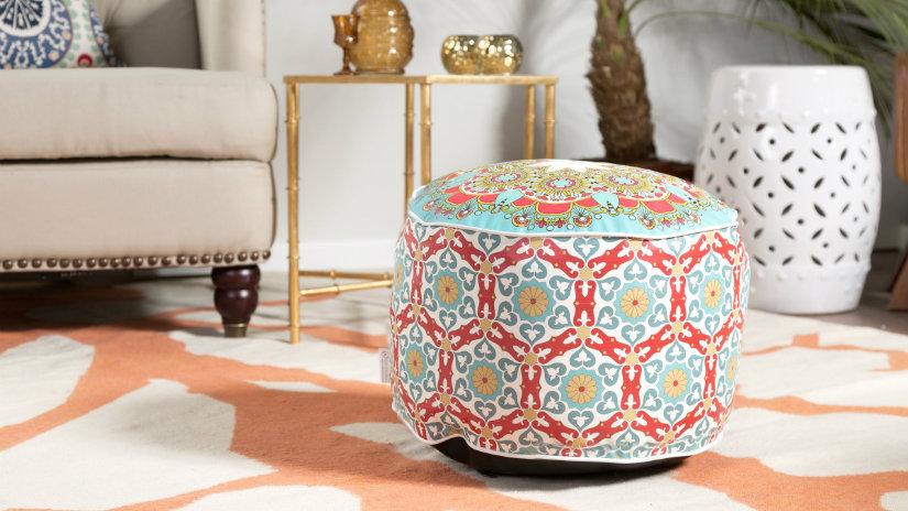 pouf patchwork tappeto